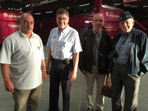 JP, WIlmer, Markus and John at Emil Weber Coach Terminal