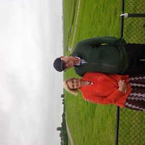 Fred & Rosie Lichti on the dike