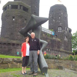 Harold and Carol Frederick at Remagen