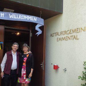 Jon and Sheryl Shenk in Langnau