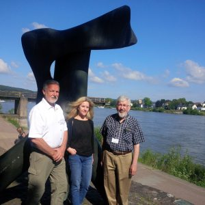 Larry Bardell, Jennifer Sears and John Yoder at Remagen