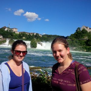 Hannah and Anja at the Rhine Falls