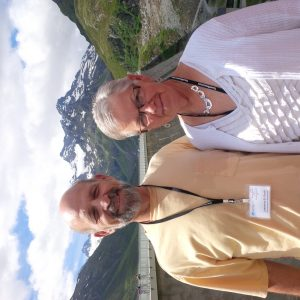 Lawrence and Karen Rush at the Silvretta Pass