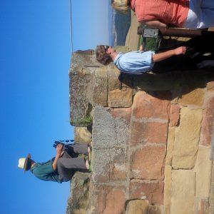 Viewing the Kraichgau from Steinsberg Tower.