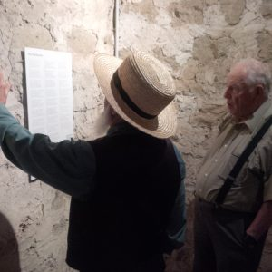 Sam and John reading Haslibach song at Trachselwald Castle.