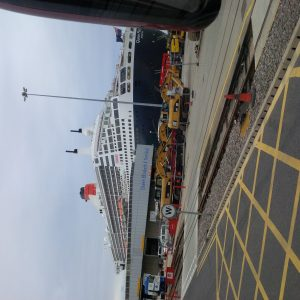 Queen Mary 2 in Port Southampton