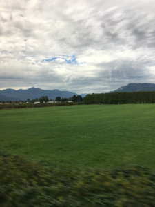 The Fraser Valley at the end of the train trip.