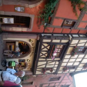 Meandering the shops in Riquewihr fighting the over powering urge to go to sleep after our trans-Atlantic crossing.