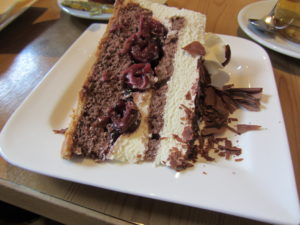 The most delicious piece of Black Forest Cake