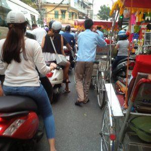 The busy street scene