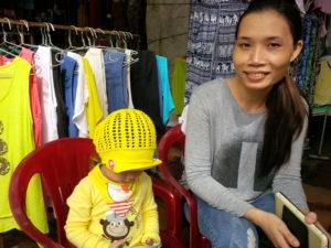 Mother/daughter vendor in historic market