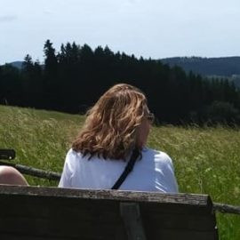 Admiring the beautiful scenery of Schwarzenau, Germany