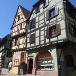 Historic buildings in downtown Riquewihr.