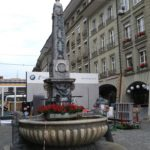 The main city well in Bern, where Hans Haslibacher was executed.