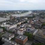 The view from the famous twin-towered Cologne Cathedral